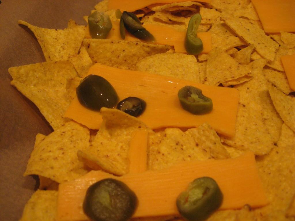 nachos cheddar jalapenos vorher