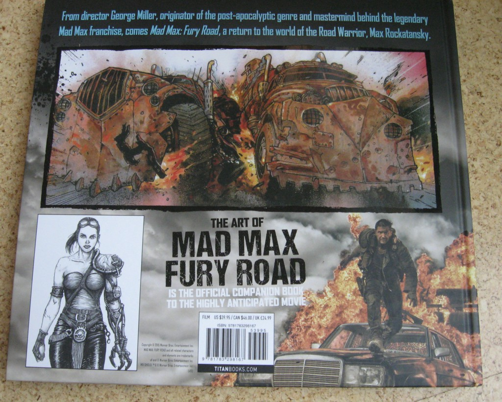 the art of mad max fury road abbie bernstein back