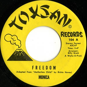 toxsan records TX 104 monica - freedom