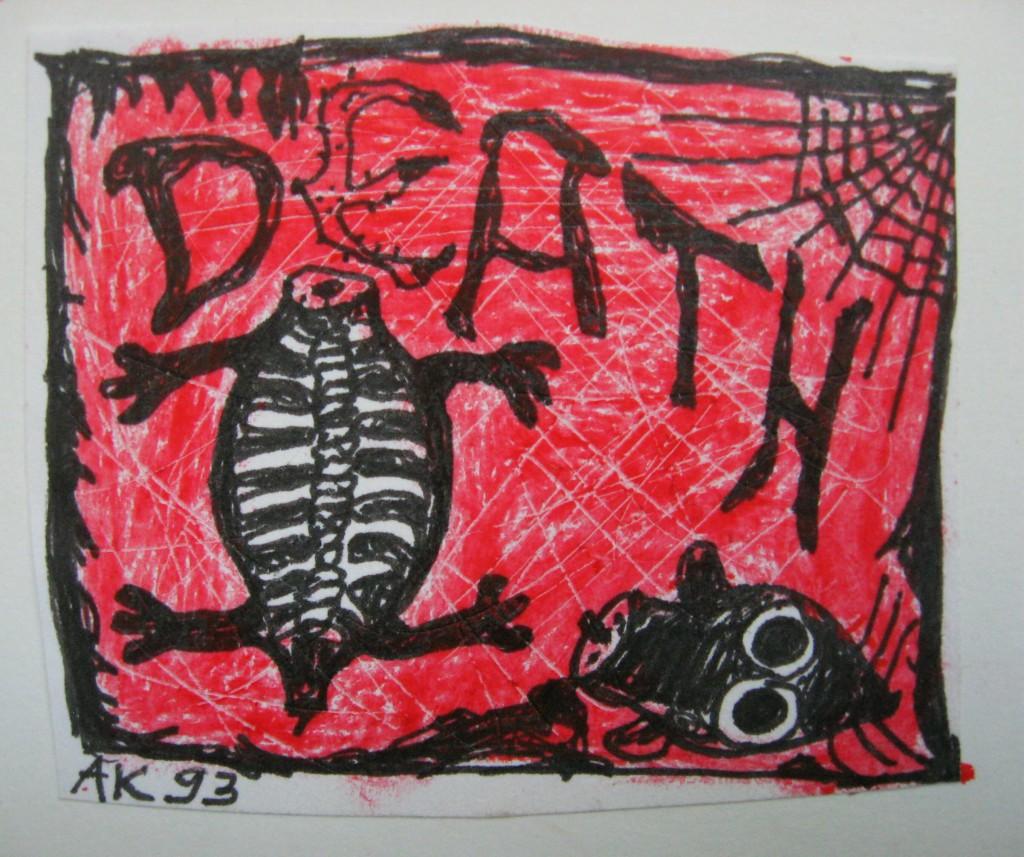 death buntstift und tusche 1992 mehr rot