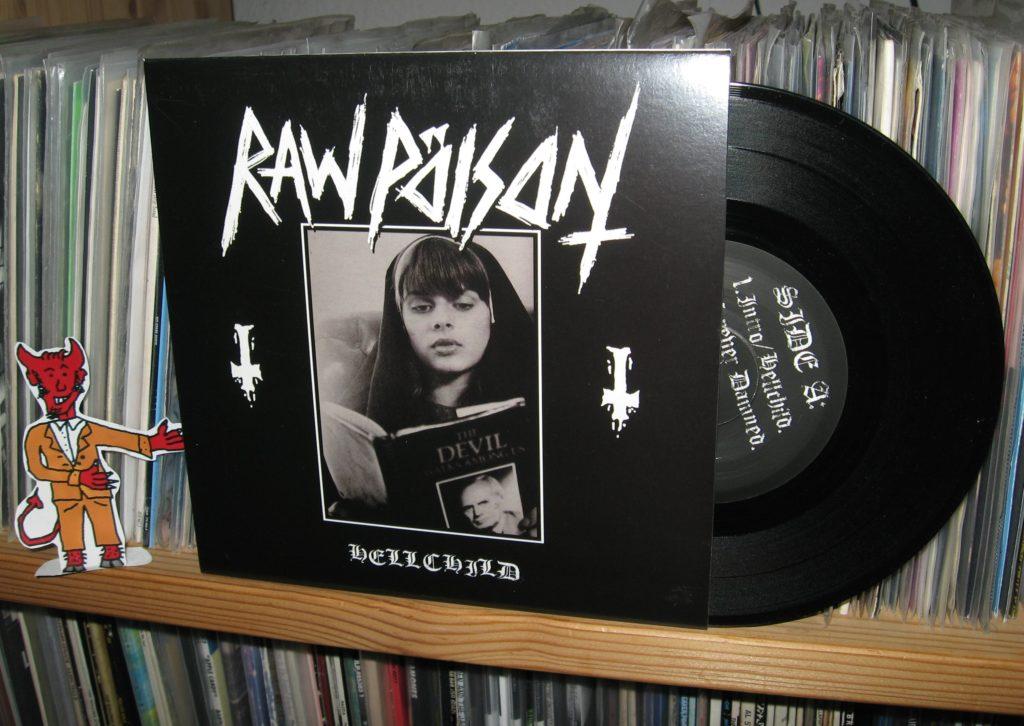 raw pöison hellchild 7inch vinyl