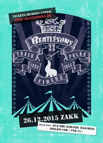 Beatlesons_Flyer_A6_VS zakk düsseldorf jubiläumsshow