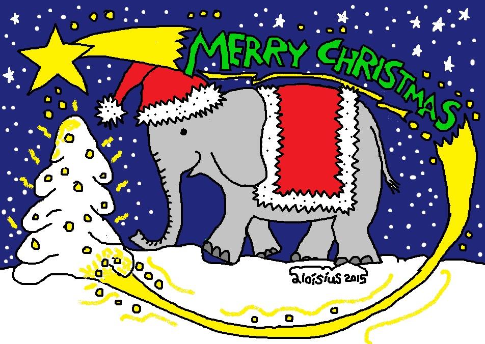 elefant weihnachtsgruss 2015 aaaaaa