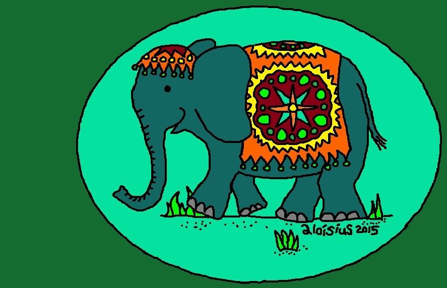 elefant geschmückt 2015 version dreieinhalb FB