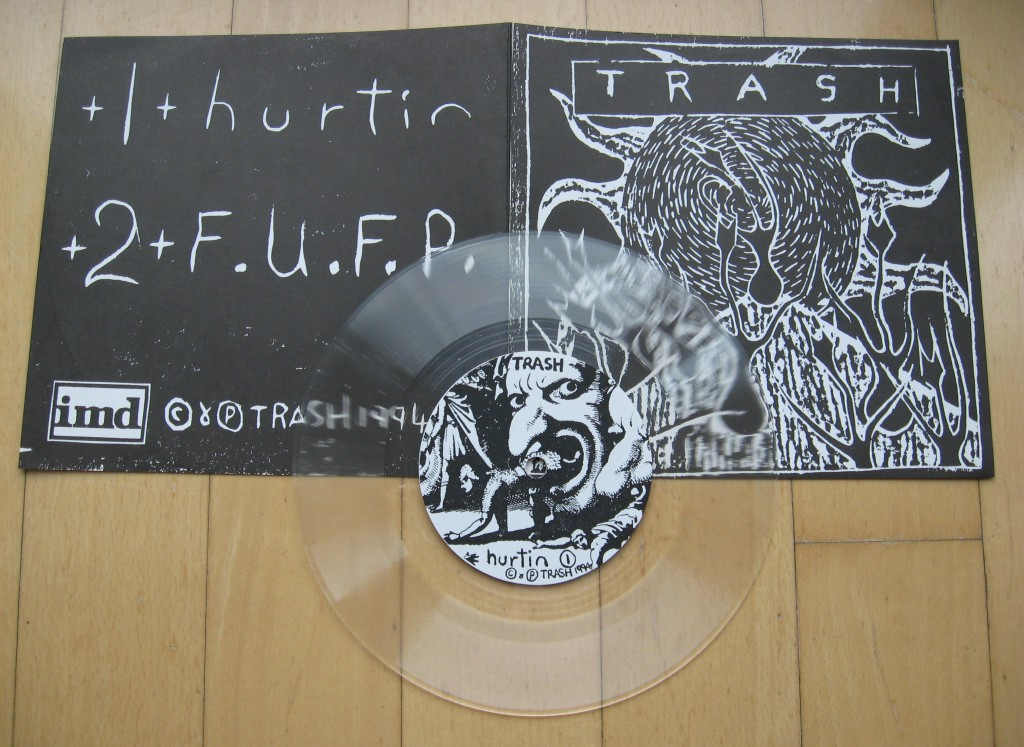 trash hurtin lathe cut single 1994imd label nz